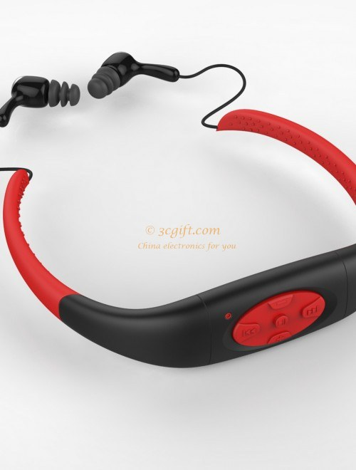 super waterproof ipx8 sport mp3 player bluetooth headsets for swimming 3c gift mall. Black Bedroom Furniture Sets. Home Design Ideas