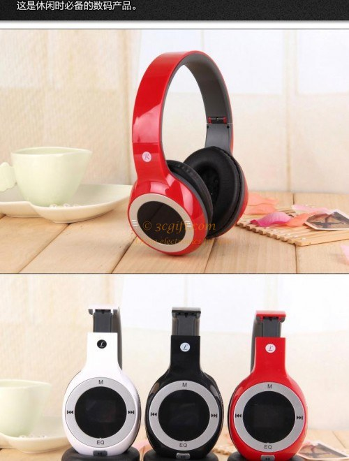 Wireless Sport Headphone Earphone MP3 FM Radio70428